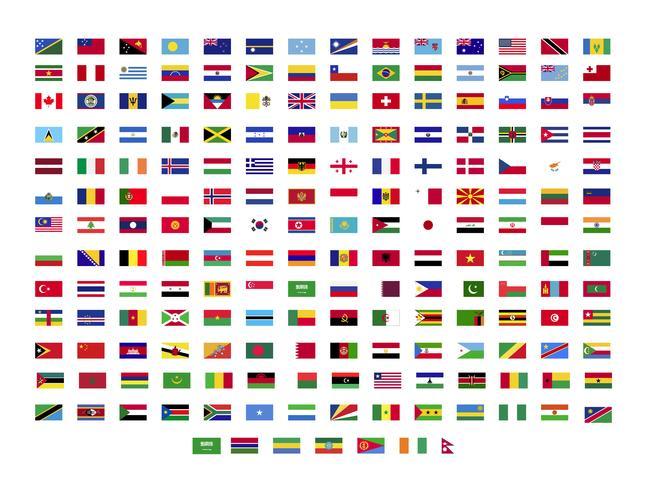 collection de drapeaux du monde