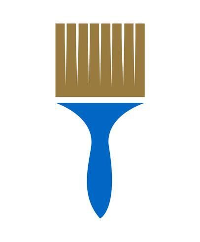 vetor de pincel azul