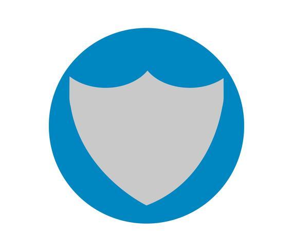 Polícia cinza distintivo círculo azul