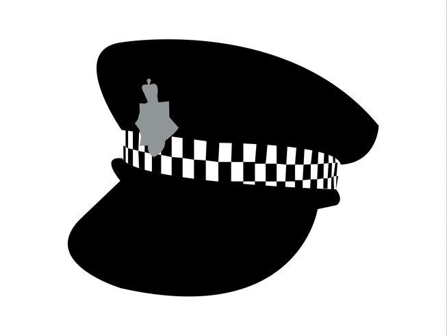 Vetor de chapéu de polícia britânica