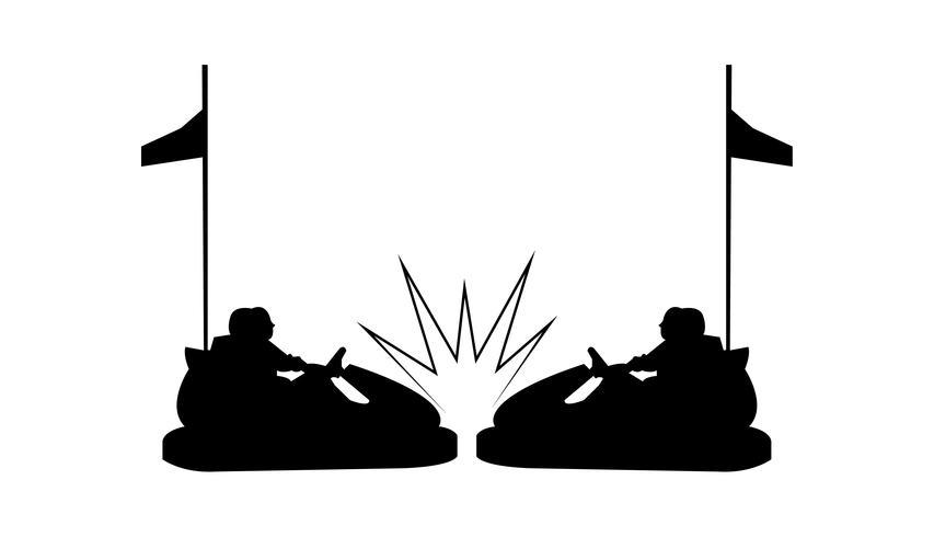 Bilkraschsilhouette för bilar
