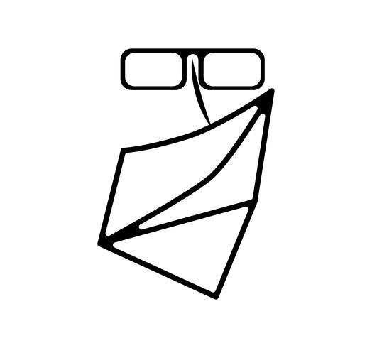 Rosto, com, óculos, e, rosto, echarpe