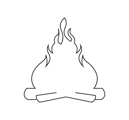 Bonfire line icon