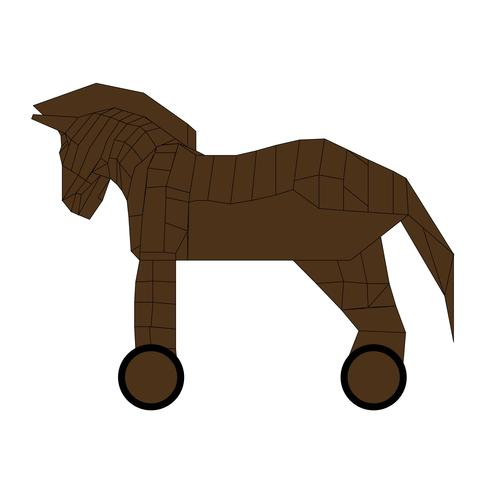 Wooden Trojan horse vector