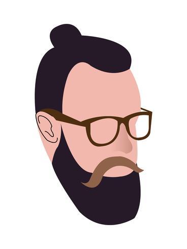 Millennial hipster head