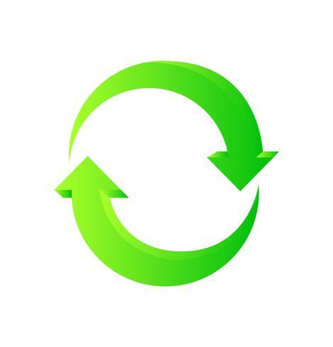 Flèches de recyclage vertes