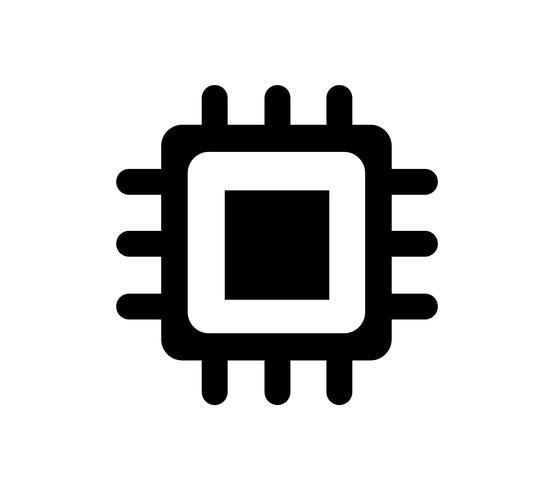 Icône de puce informatique