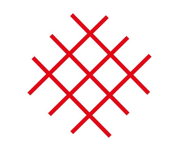 Crossed red lines vector
