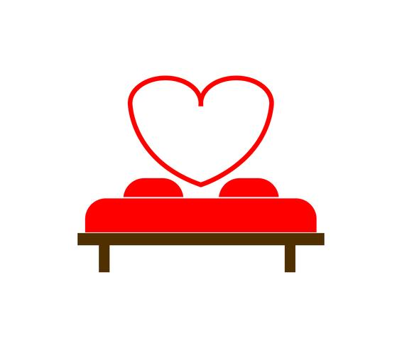 love bed vector