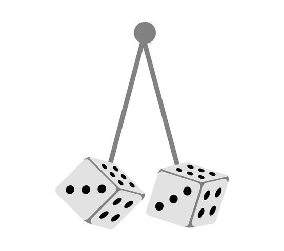 Pair of car dices