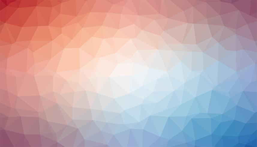 Pink and blue triangulated background texture vector
