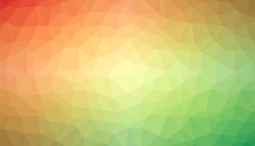 Orange and green triangulated background texture vector