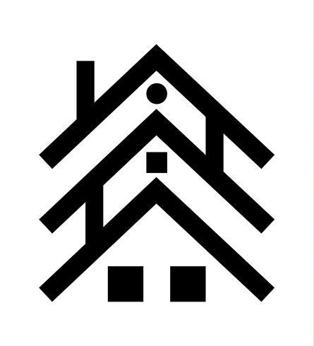 icône de trois maisons