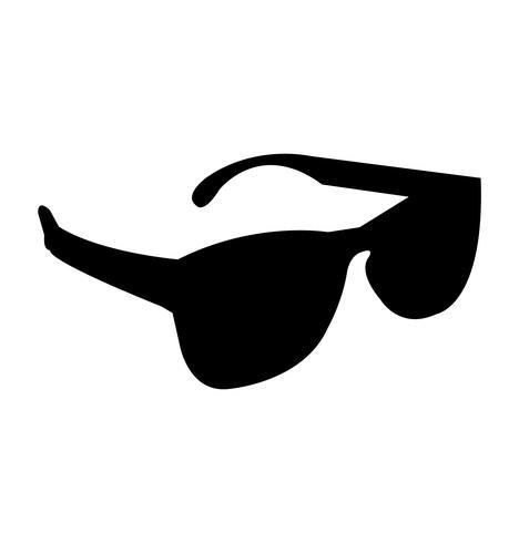 Black shades silhouette