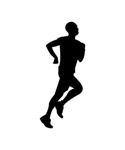 Silhouette noire homme jogging