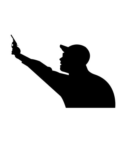 Sports judge shoots from gun in air