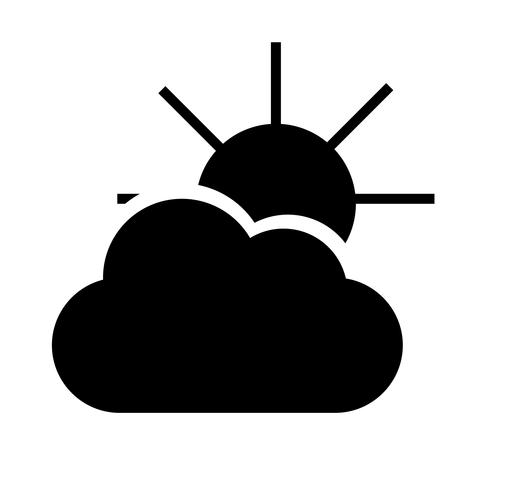 Weather forecast cloud and sun icon
