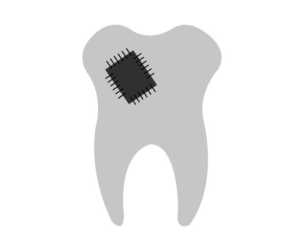 Vecteur de dents rapiécées