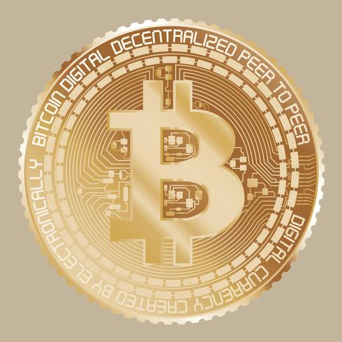 Gelbgold-Bitcoin