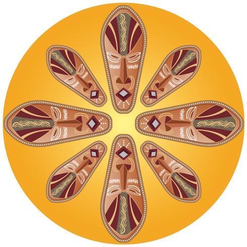 Illustration vectorielle de roue masque