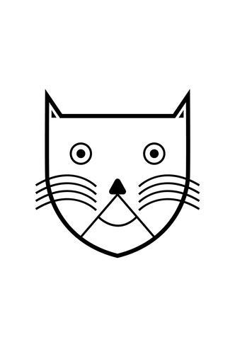 Cabeça de gato preto