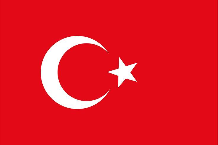 Vector bandeira de Turquia