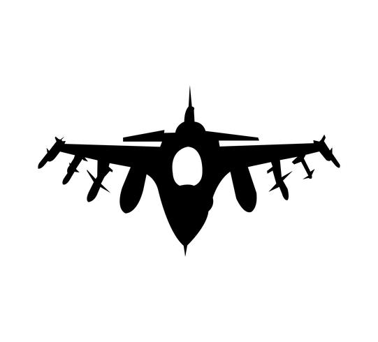 Army aircraft black silhouette