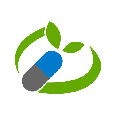 Comprimido com folhas e design de logotipo swoosh