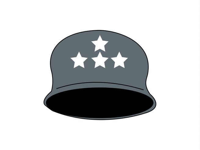 Vecteur de casque général de l'armée américaine