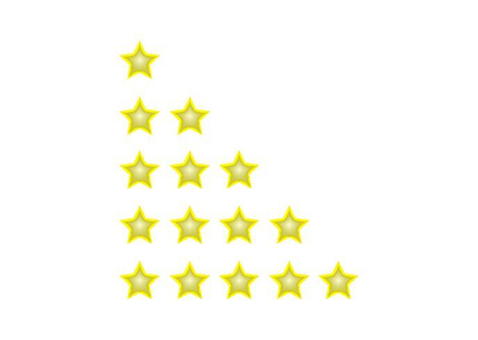 Gyllene betygsstjärnor vektor