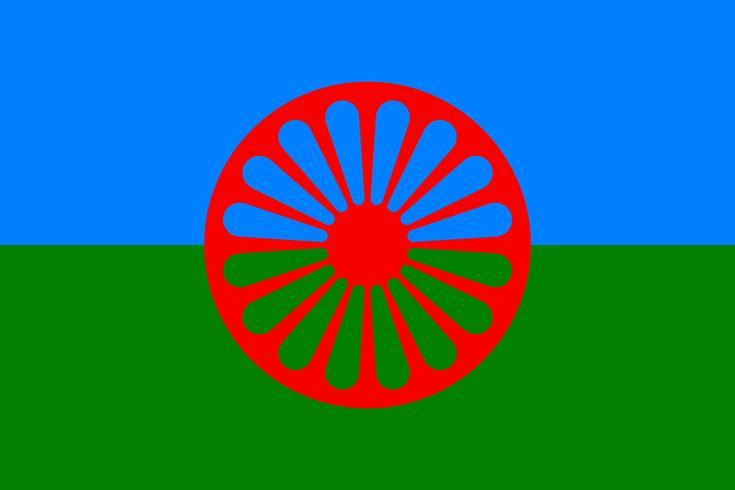 Gypsy flag background