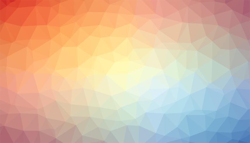Vecteur de texture de fond triangulé bleu orange