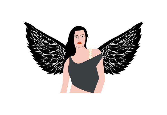 Anjo de mulher com jóias bling