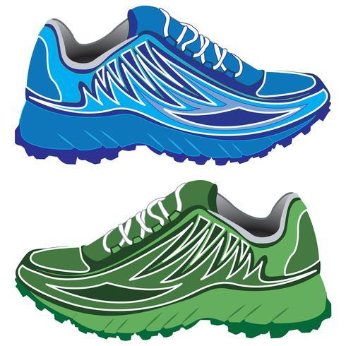 Double sport shoes vector