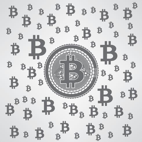 Bitcoin Pattern Grey