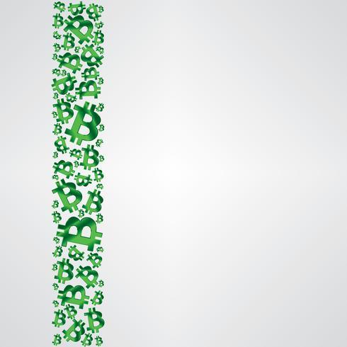 groen metalen bitcoin strip