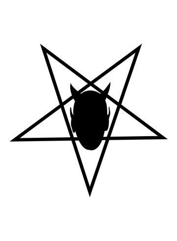 Teufelskopf im Pentagramm