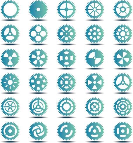 Conjunto de turquesa de coleção de engrenagem