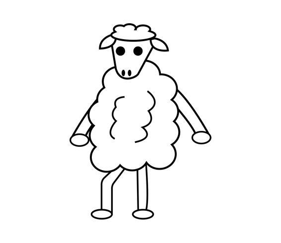 Sheep cartoon character mascot
