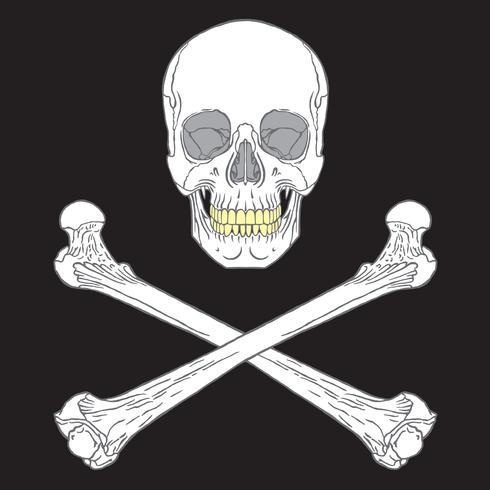 Piratenzeichen Schwarz