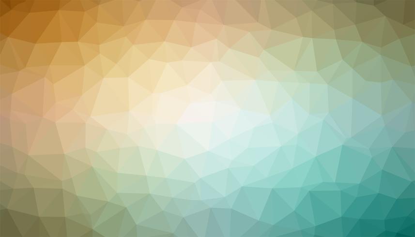 Gele en turkooise triangulated achtergrondtextuurvector vector