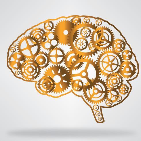 Golden brain shaped gear wheels