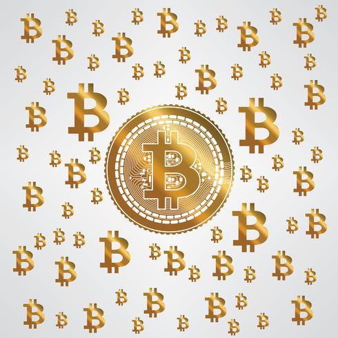 Padrão de ouro amarelo Bitcoin