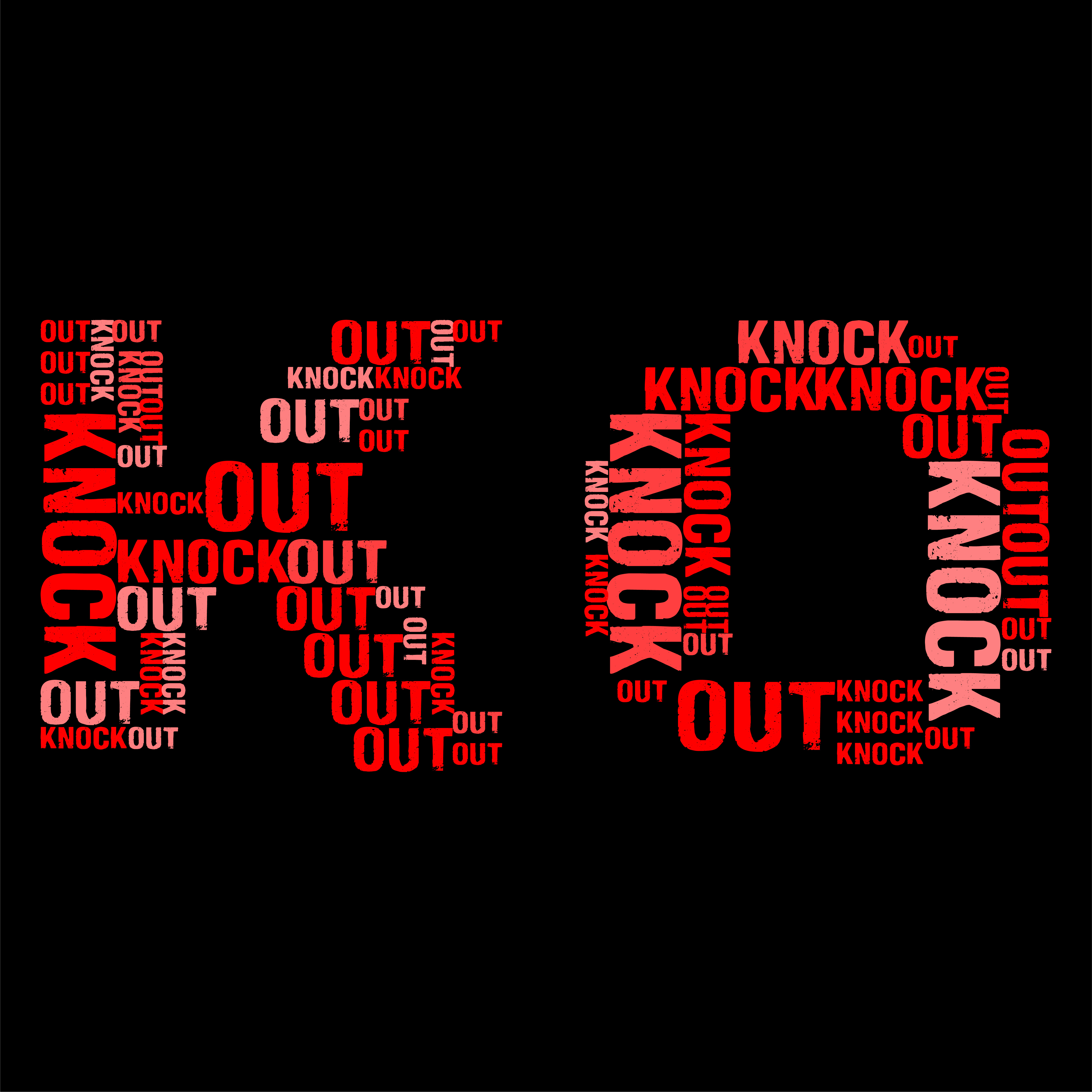 Knock Out Wordcloud Black Background Vector illustration Download Free Vectors Clipart