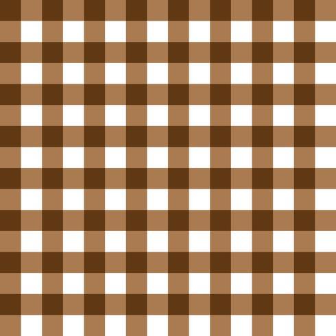 Donker bruin en lichtbruin geruite stof patroon
