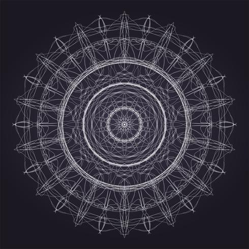 Patrón de vector de mandala
