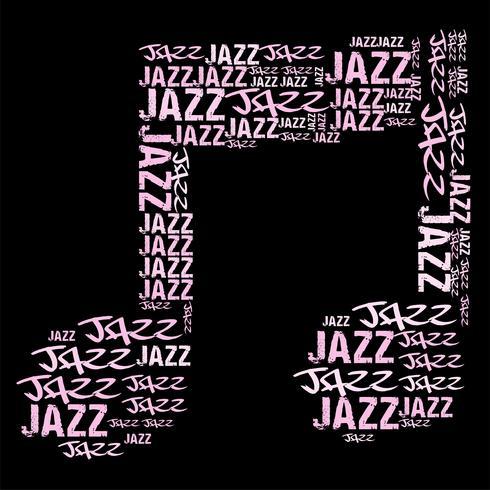 Illustration vectorielle de musique jazz mot nuage