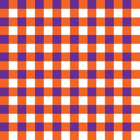 Paars en oranje geruite stof patroon