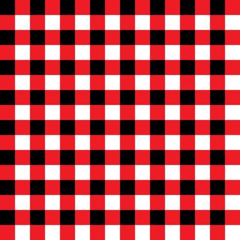 Padrão de tecido xadrez vermelho e preto