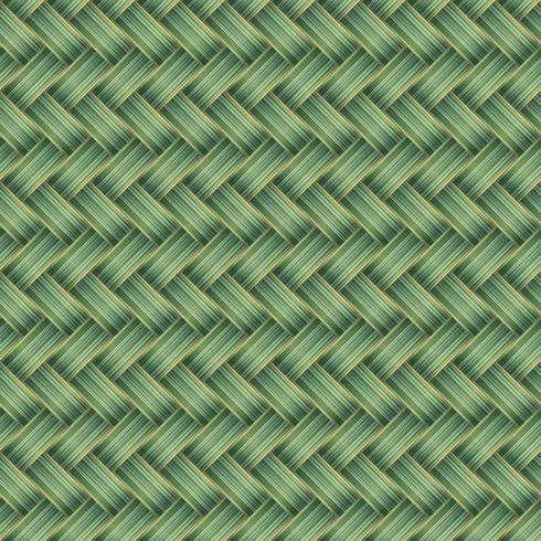Green Wicker Seamless Pattern Vector Illustration